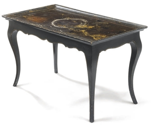 A CHINESE LACQUER AND EBONISED