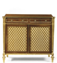 A REGENCY ROSEWOOD GILT-METAL