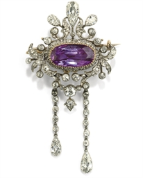 An Edwardian pink sapphire and