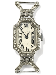 A lady's diamond wristwatch