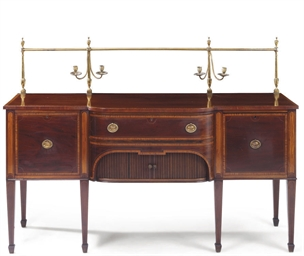 A VICTORIAN MAHOGANY AND SATIN