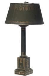 A FRENCH TÔLE PEINTE LAMP