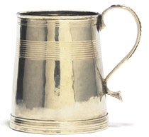 A WILLIAM III SILVER MUG