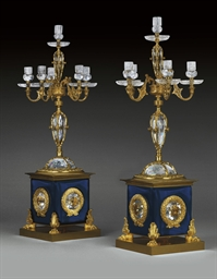 A PAIR OF ORMOLU-MOUNTED CUT A