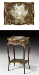 A FRENCH ORMOLU-MOUNTED, BRASS
