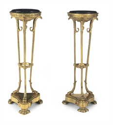 A PAIR OF FRENCH ORMOLU GUERID