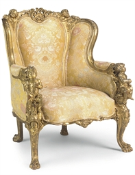 A LARGE FRENCH GILTWOOD BERGER