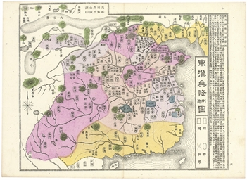 MEIJI PERIOD JAPANESE MAPS OF