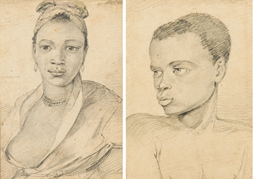 Portraits of two slaves, Brazi