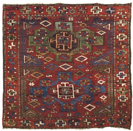 An antique Konya rug