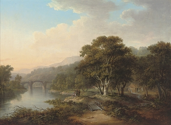 A view on the river Tweed, nea