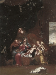 The Holy Family with two minis