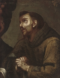 Saint Francis at prayer