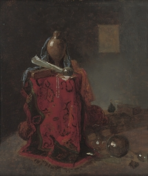 A vanitas still life with an u