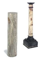 TWO ITALIAN MARBLE PEDESTAL CO