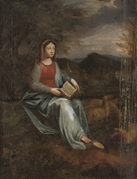 The Madonna in a landscape
