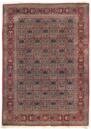 A very fine silk Qum rug