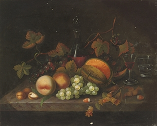 Peaches, grapes and hazlenuts