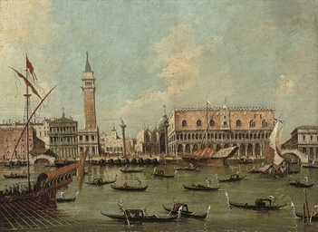 The Molo, Venice, from the Bac