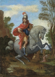 A Roman soldier on horseback