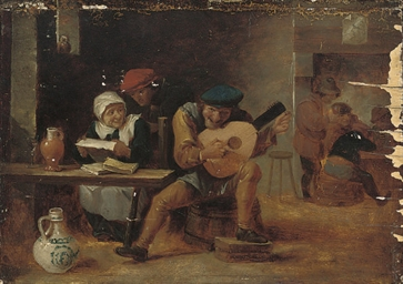 Peasants drinking and merrymak