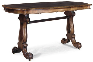 A MID VICTORIAN ROSEWOOD CENTR