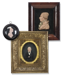 THREE WAX PORTRAIT RELIEFS