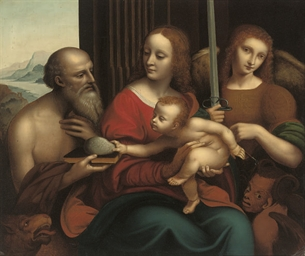 Madonna and Child with Saint J