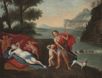Venus and Adonis in a landscap