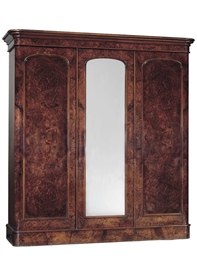A MID-VICTORIAN FIGURED WALNUT