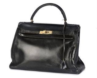 HERMÈS A BLACK LEATHER KELLY B