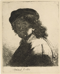 Self-portrait in Cap and Scarf