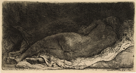 A Negress lying down (B., Holl