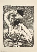 3. Kestner-Mappe: 6 Lithos von Max Kaus, Eckart von Sydow - Verlag Ludwig Ey, Hannover, 1923 (Söhn 71303)
