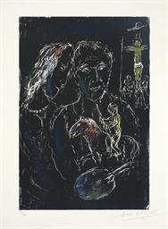Le Peintre sur Fond noir (M. 6