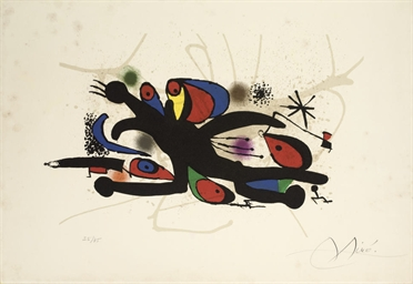One Plate from Joan Miro (M. 9