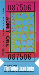 Lincoln Centre Ticket (F. & S.