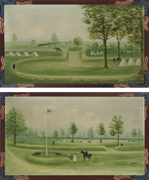 Pair of Views of Camp McKinley