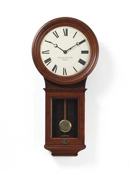 a pendulum wall clock in a