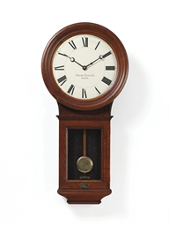 A pendulum wall clock in a mah