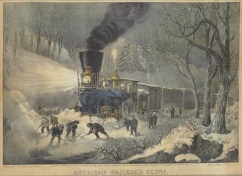 American Railroad Scene: Snowb