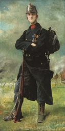 Portrait of a Belgian infantry