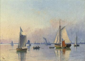 Shipping at dusk