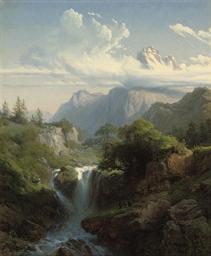 A mountain torrent