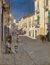 A bustling street, Taormina