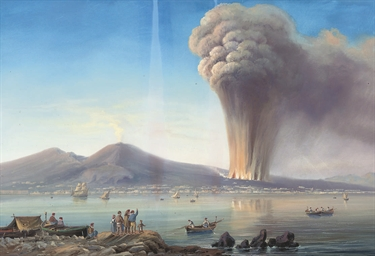 An eruption on the Bay of Napl
