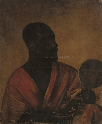 A Moor holding a mirror