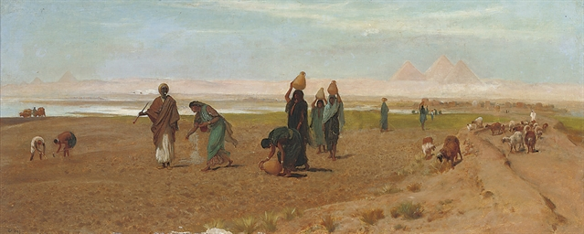 The Sheik's daughter sowing th