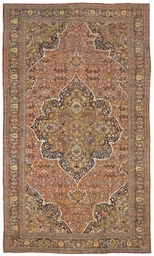A LARGE SAROUK FEREGHAN CARPET