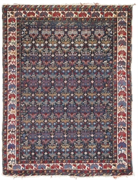 A NEIRIZ RUG AND AN AFSHAR MAT